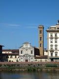 Florence - SantaTrinita church Royalty Free Stock Photography