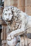 Florence, sculpture of a lion Royalty Free Stock Image