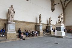 Florence sculptures Royalty Free Stock Image