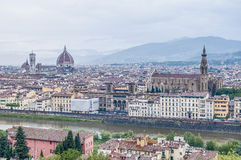 Florence seen from Piazzale Michelangelo, Italy stock photography