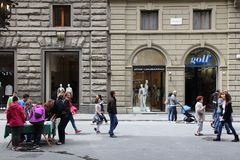 Florence shops Stock Photography