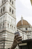 Florence,SIGNORIA PALACE WITH DAVID Royalty Free Stock Photo