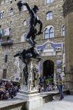 Florence,SIGNORIA PALACE WITH DAVID Royalty Free Stock Photos
