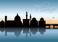 Florence skyline - Italy -  illustration Stock Images