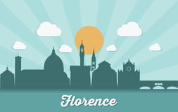 Florence skyline - Italy - vector illustration Stock Photos