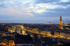 Florence skyline at night Stock Photo