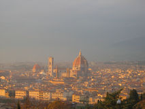 Florence skyline at sunset. Italy. Campanile di San Marco Royalty Free Stock Photos
