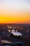 florence solnedgång Arkivbild