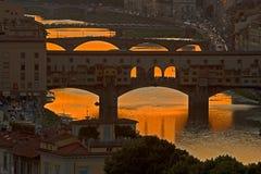 florence solnedgång toscana Arkivfoto