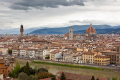 Florence in spring. View of Florence from Piazzale Michelangelo Stock Image
