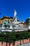 florence springbrunn italy neptune Arkivbilder