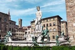Florence springbrunn neptune Royaltyfria Foton