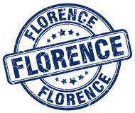 Florence stamp. Florence round grunge stamp isolated on white background Stock Images