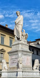 Florence statue of Dante Alighieri Royalty Free Stock Photography