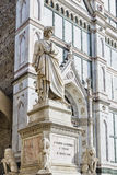 Florence statue of Dante Alighieri Royalty Free Stock Photo