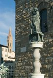 Florence. Statue of Judith and Holofernes Royalty Free Stock Photos