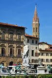 Florence, statue of Neptun, Italy Stock Photos