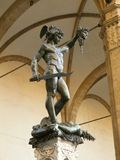 Florence - statue of Perseus Stock Photos