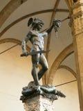 Florence - statue of Perseus Stock Photos