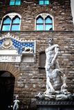 Florence statue. A view of a statue in Florence,Italy Royalty Free Stock Images