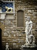 Florence statue. A view of a  statue,Florence,Italy Stock Images