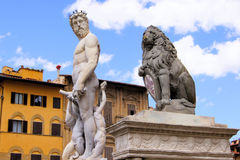 Florence statues Stock Photos
