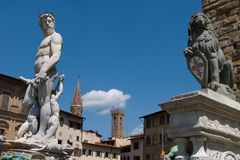 Florence statues Royalty Free Stock Photo