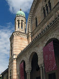 florence stor synagoga Arkivbilder