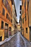 Florence Street. Italy (HDR photo royalty free stock images