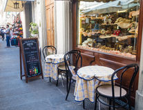 Florence street cafe. Florence Royalty Free Stock Images