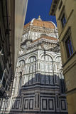 Florence street and The Duomo, Cathedral in Florence, Italy Stock Photo