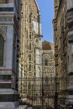 Florence street and The Duomo, Cathedral in Florence, Italy Royalty Free Stock Photo