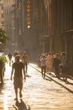 Florence street scene Stock Photo