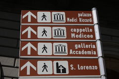 Florence streets and signs in Italy Royalty Free Stock Image