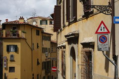 Florence streets and signs in Italy.  Royalty Free Stock Images