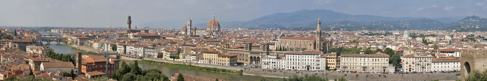 Florence sunny day cityscape panorama Stock Photo