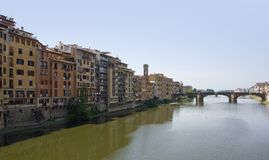 Florence. Sunny illuminated panoramic view of Florence in Tuscany (Italy Stock Image