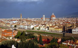 Florence in sunrise Stock Image