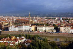 Florence in sunrise Stock Photography