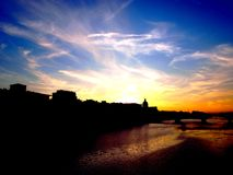 Florence at sunset royalty free stock images