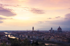Florence Sunset Foto de Stock Royalty Free