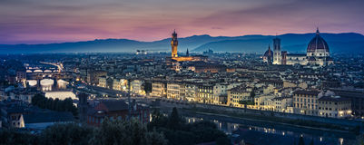 Florence After Sunset foto de stock royalty free