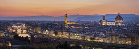 Florence After Sunset imagem de stock royalty free