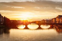 Florence Sunset Italy Imagens de Stock Royalty Free