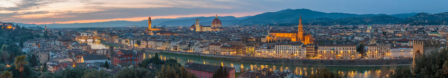 Florence at sunset, Italy Stock Photography