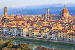 Florence at sunset, Italy Royalty Free Stock Photos