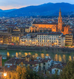 Florence at sunset, Italy Royalty Free Stock Images