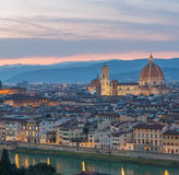 Florence at sunset, Italy Royalty Free Stock Photography