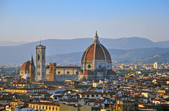 Florence on sunset Stock Images