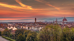 Florence at sunset Royalty Free Stock Image